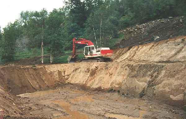 digging the initial anaerobic bioreactor in 1998